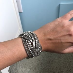 Beautiful silver cuff bracelet